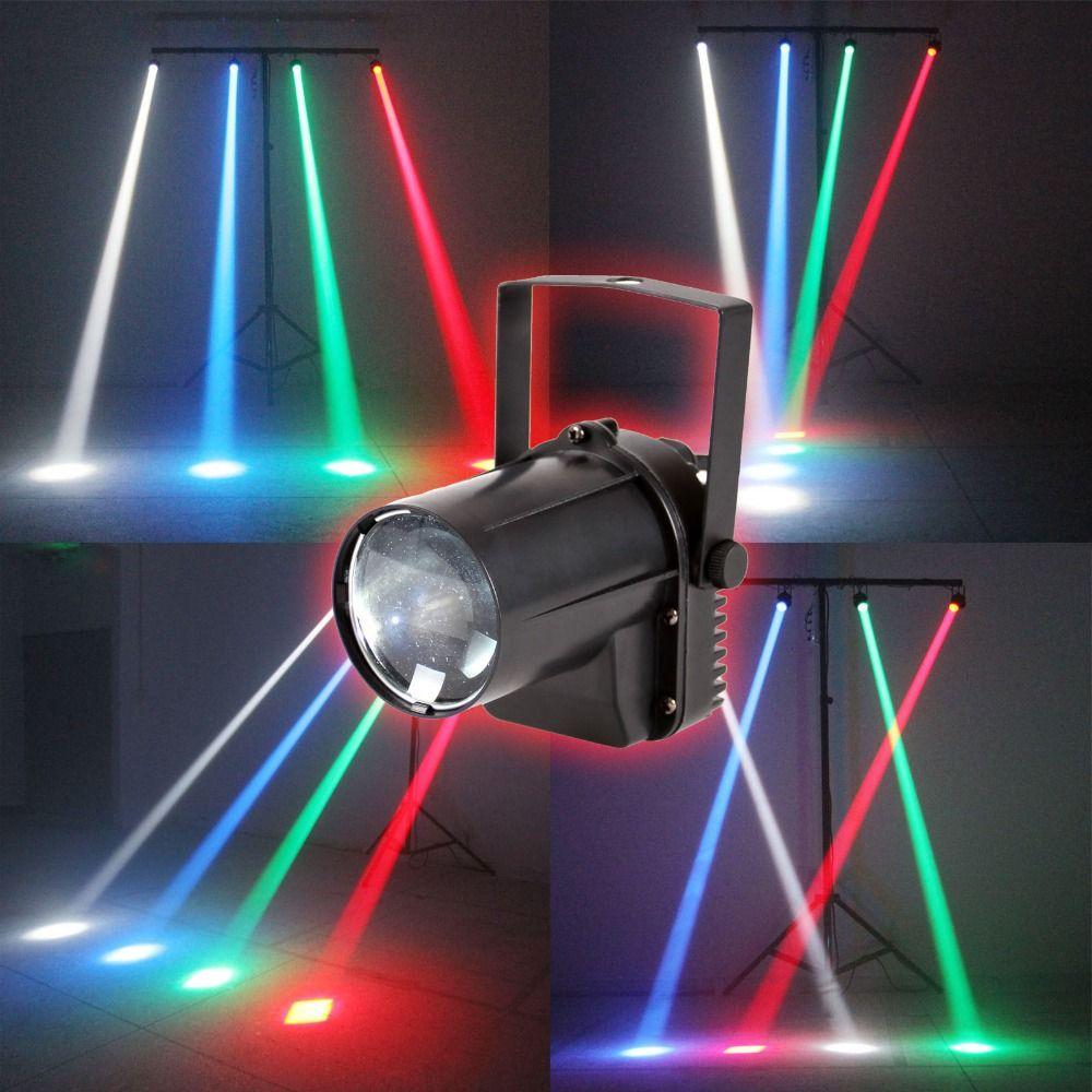 AOBO Beleuchtung 3 Watt Bunte RGB FÜHRTE Pin Spot Bühne Licht Disco ...