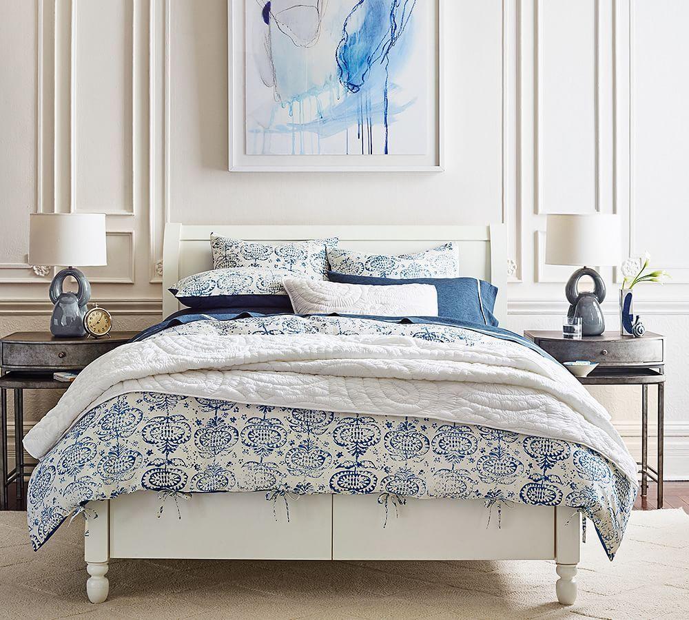 Addison Sleigh Storage Bed Remodel Bedroom Master Bedroom Remodel Room Redesign