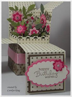 King's on Paddington: JAI 128 - Inspirational Photo - Flower Garden Pop-up Box Card