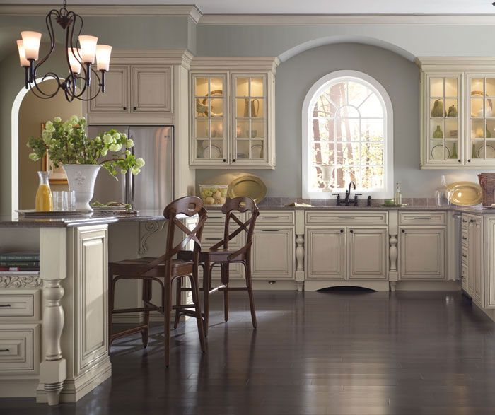 Kitchens With Glazed White Cabinets: Schrock Kitchens Available At The Kitchen Works