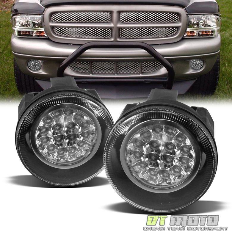 2001 2004 Dodge Dakota 01 03 Durango Hyper Led Bumper Fog Lights Lamps W Switch Dodge Dakota Durango Dodge