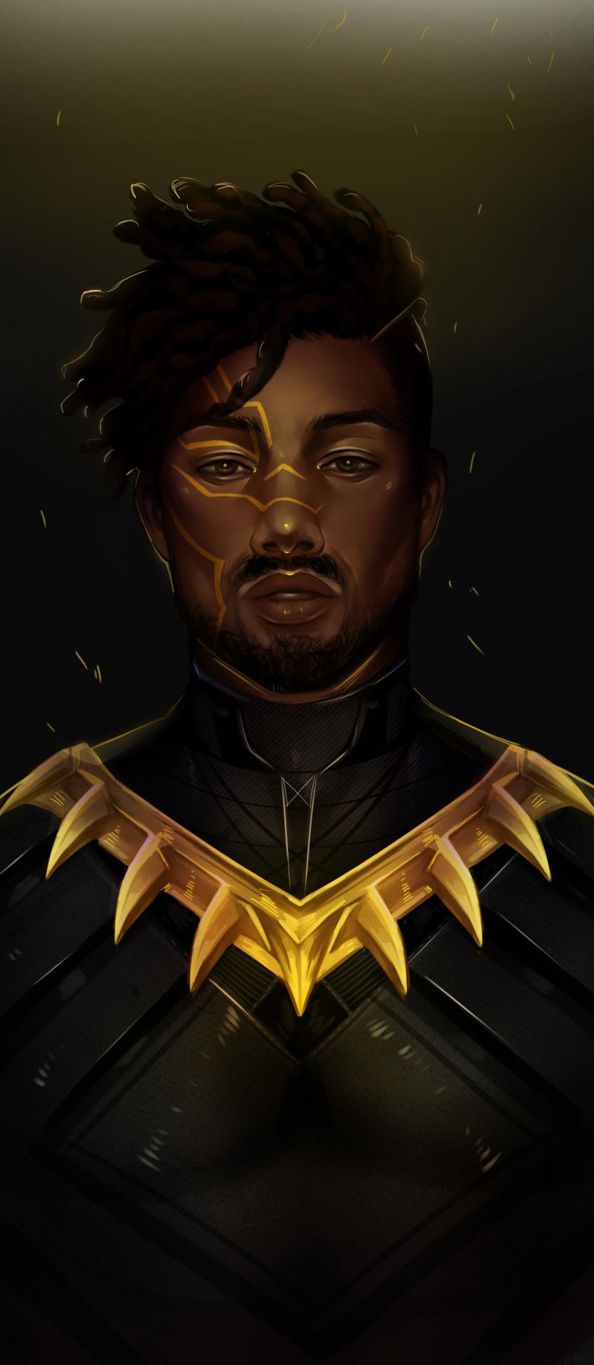 Mcu Killmonger Art Black Panther Marvel Black Comics Black Panther