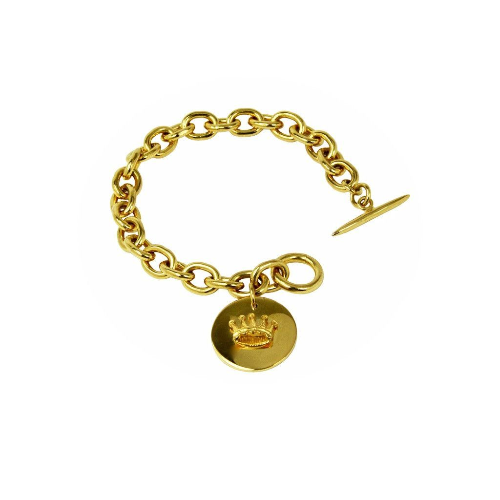 Crown pendant bracelet products pinterest products