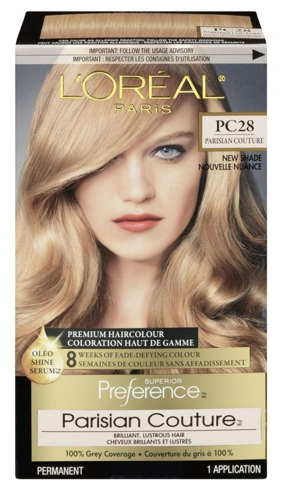 3 Loreal Preference Pc28 Hair Dye Color Natural Medium Beige Blonde