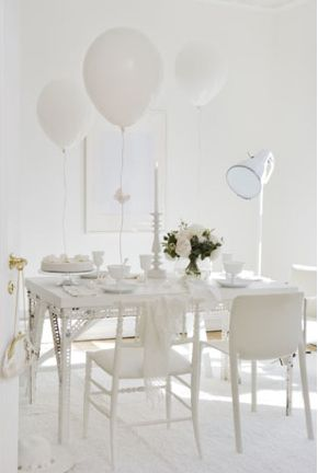 All White Decor simple, white decor | ian's christening party: august 18, 2012
