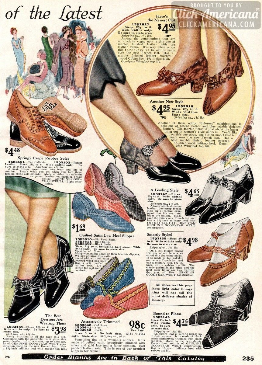 Stylishly Smart Women S Shoes From 1925 1920s Shoes 1920s Fashion Vintage Shoes
