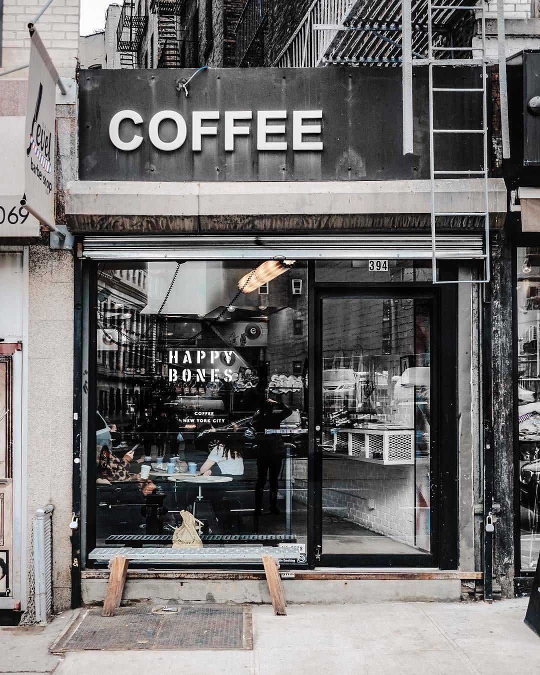 Happy Bones Coffeeshop New York Eat Nyc Fotografi Pengeditan Foto Wallpaper Ponsel