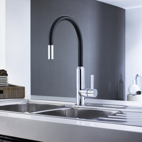 Vixen Retractable Sink Mixer Black | Kitchen | Pinterest | Mixers ...