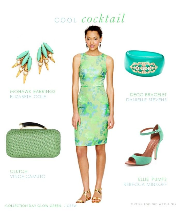 Mint And Aqua Tail Dress For A Wedding Guest