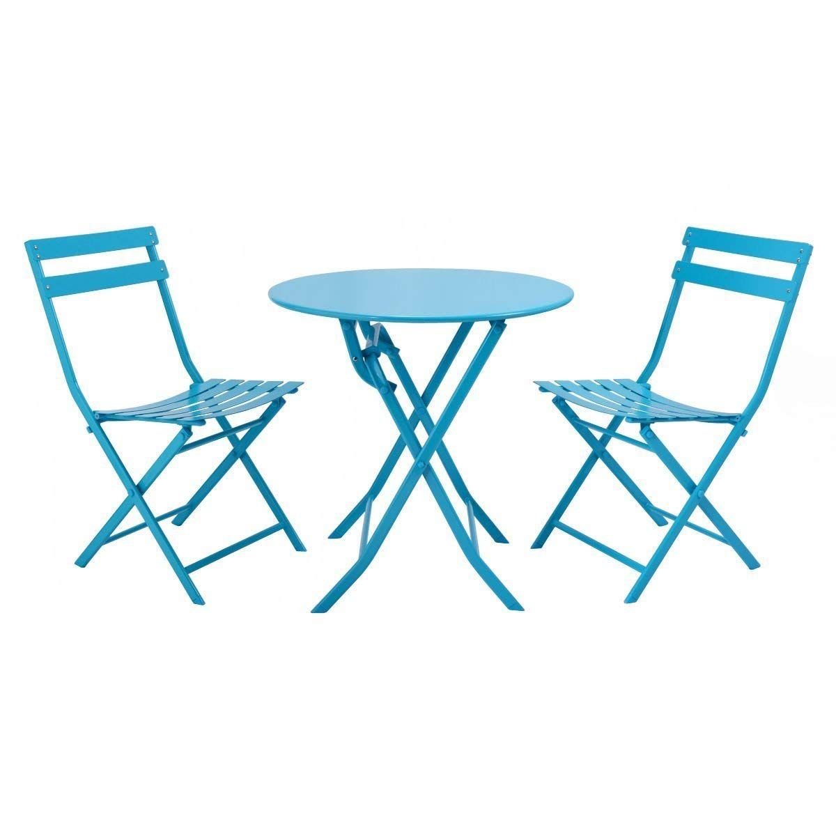 Amazon giantex pc folding bistrostyle patio table and chair