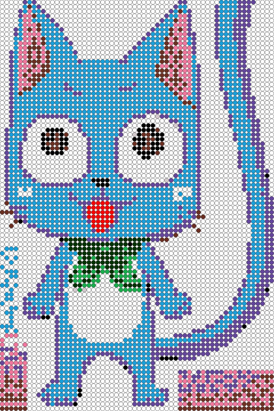 Pixel Art En Perle Hama Manga Dessin Chat Pixel Art Et