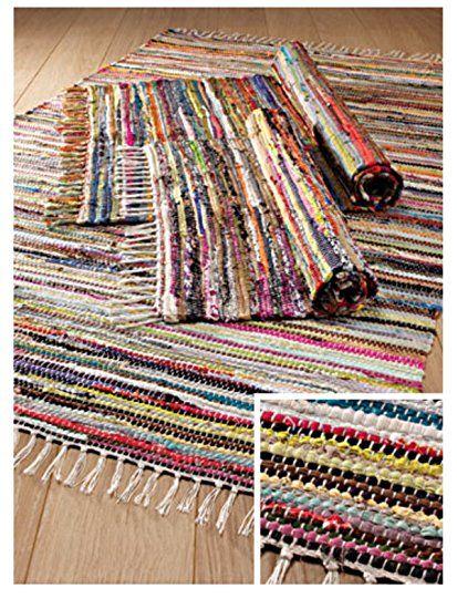 Multi Colour Recycled Cotton Rag Rug 60 X Rugs Home Furnishings Namaste Fair Trade Uk Ltd