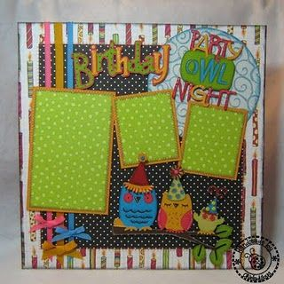 I'm kind of diggin' this cute Owl thing I keep seeing in crafts/scrapbooking. This layout is just too cute!
