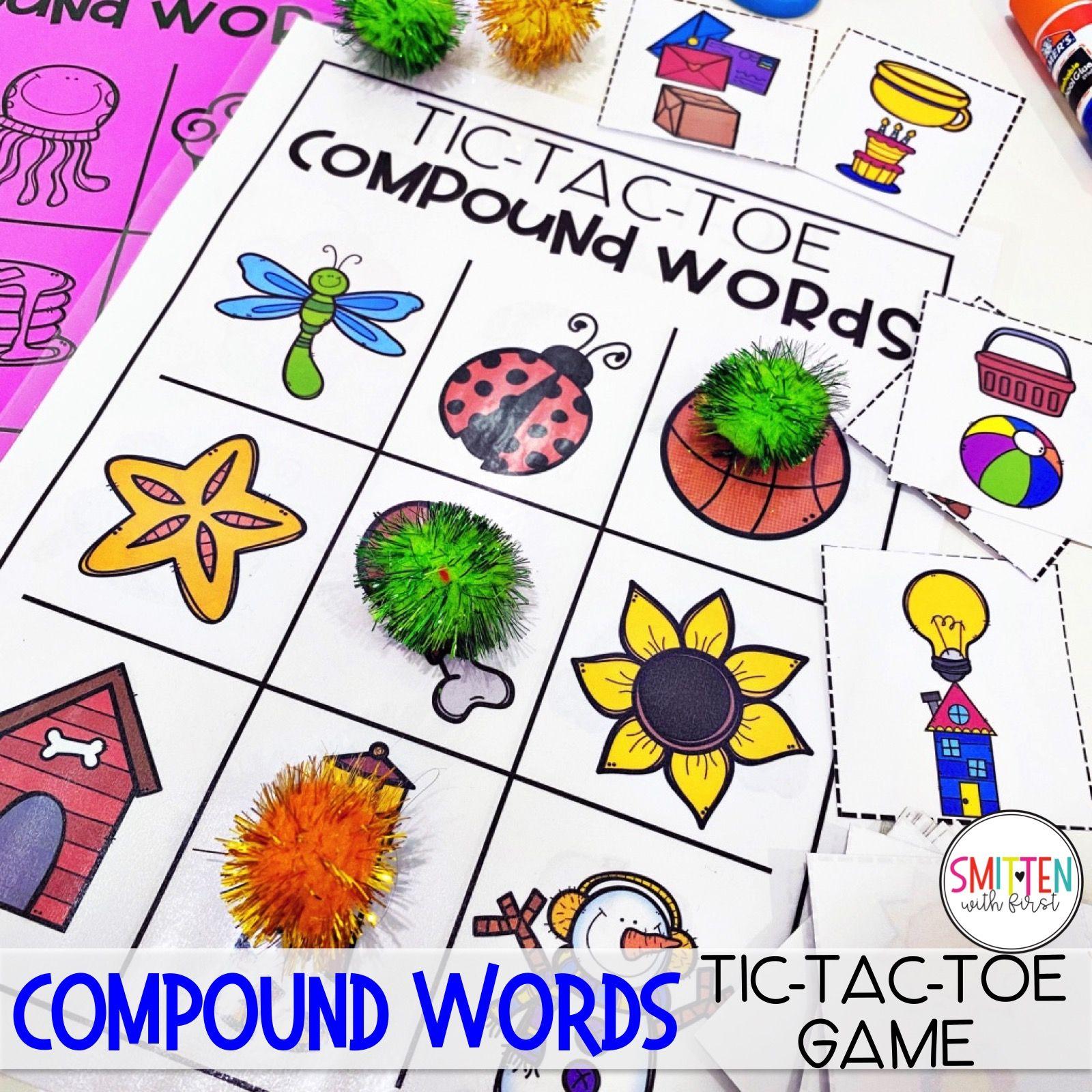 Compound Words Activities For Kindergarten 1st Grade And