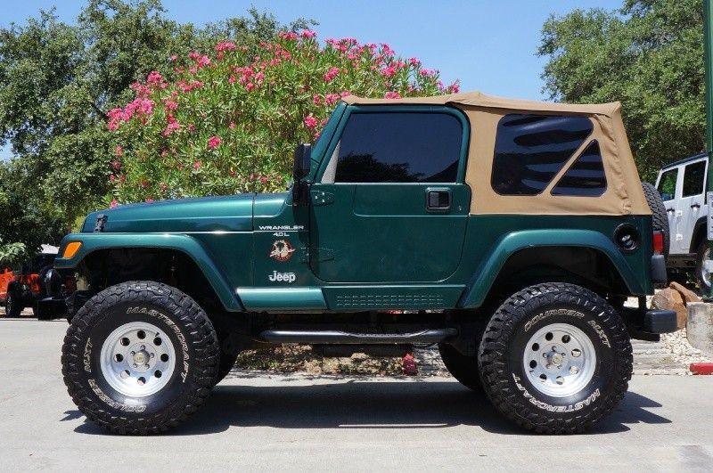 Crazy Low Mileage 2001 Green Jeep Wrangler Sahara Only 43k Miles