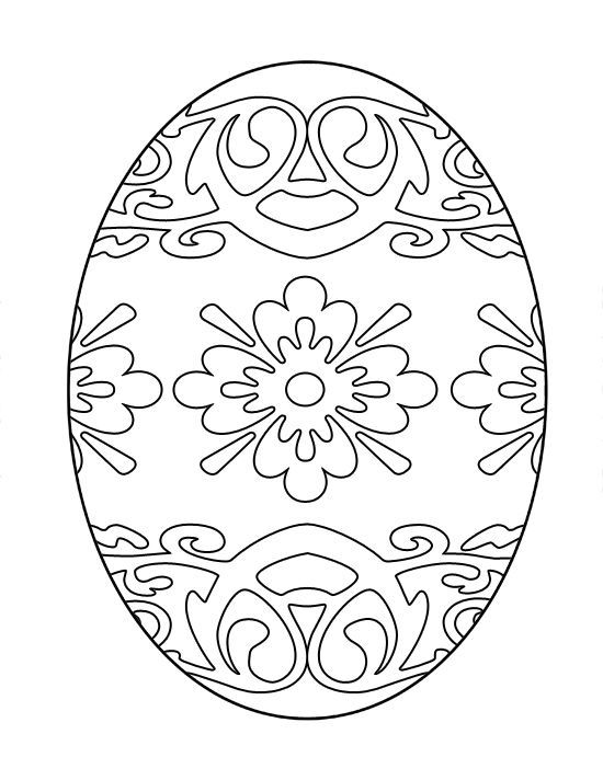 Printable Easter Egg Coloring Image Free Different Images