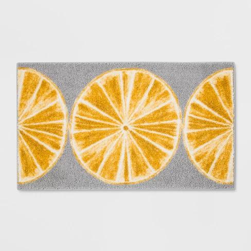 Best 34 X20 Slices Kitchen Rug Gray Yellow Threshold 400 x 300