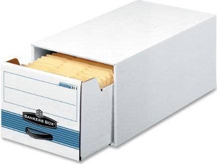 Stor/drawer Steel Plus Storage Box, Wire, White/blue, 12/ct