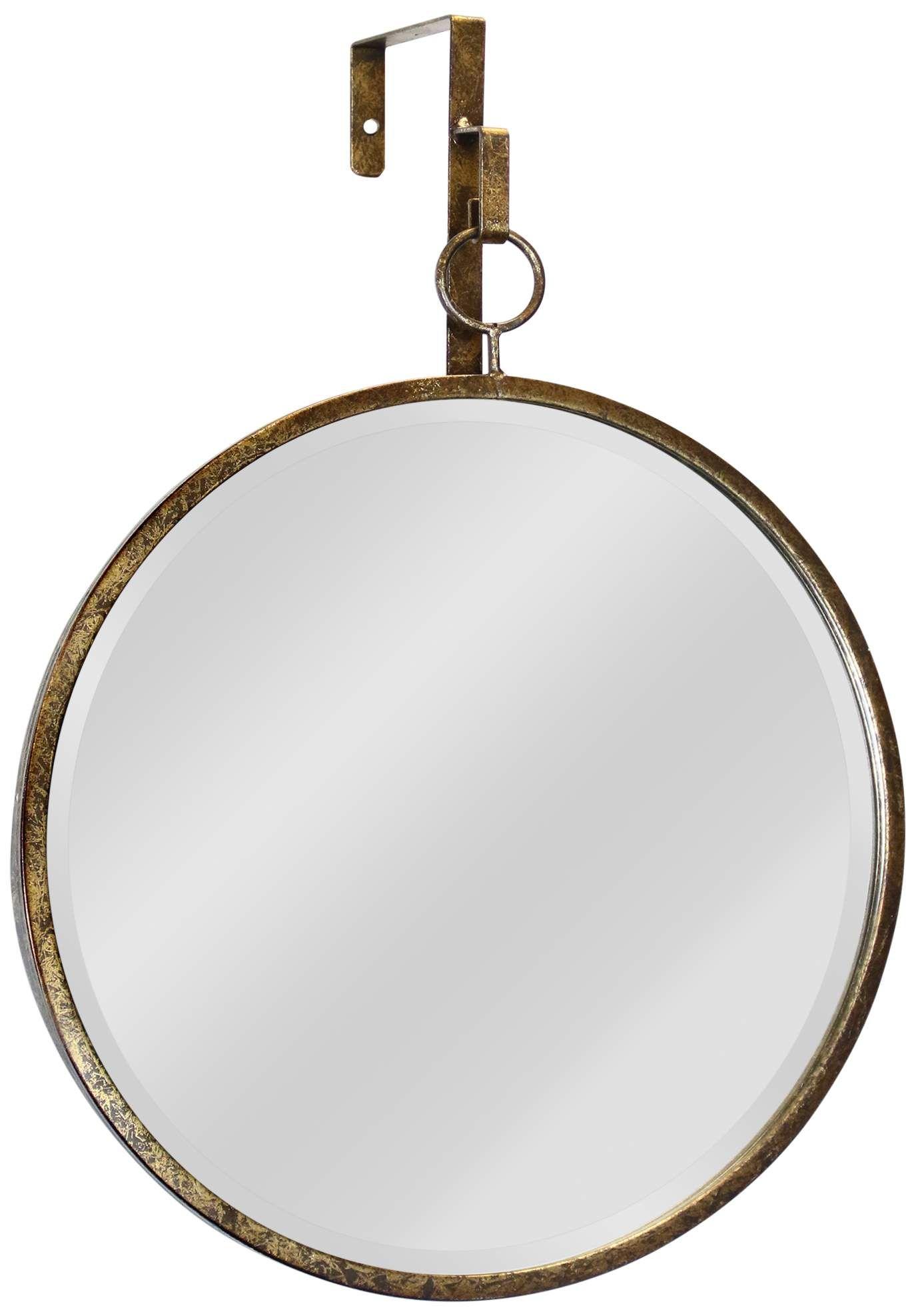 Mirrors Haile Antique Gold 17 1 4 X 20 Round Wall Mirror Round Wall Mirror Mirror Wall Mirror