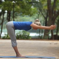 standing forward bend hastapadasana  forward bend yoga