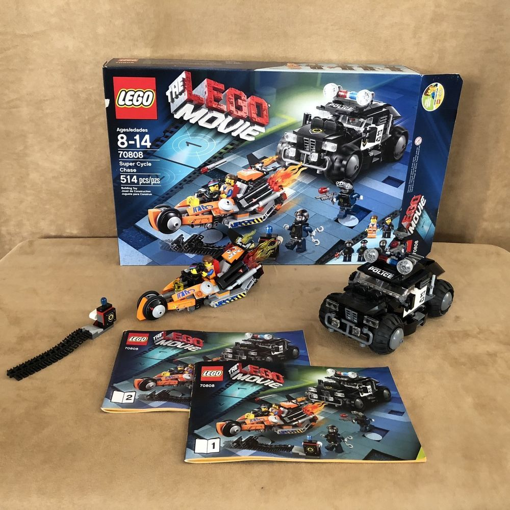 70808 Lego The Movie Super Cycle Chase Complete Box Instructions Minfiigure Lego Cycle Lego Movie