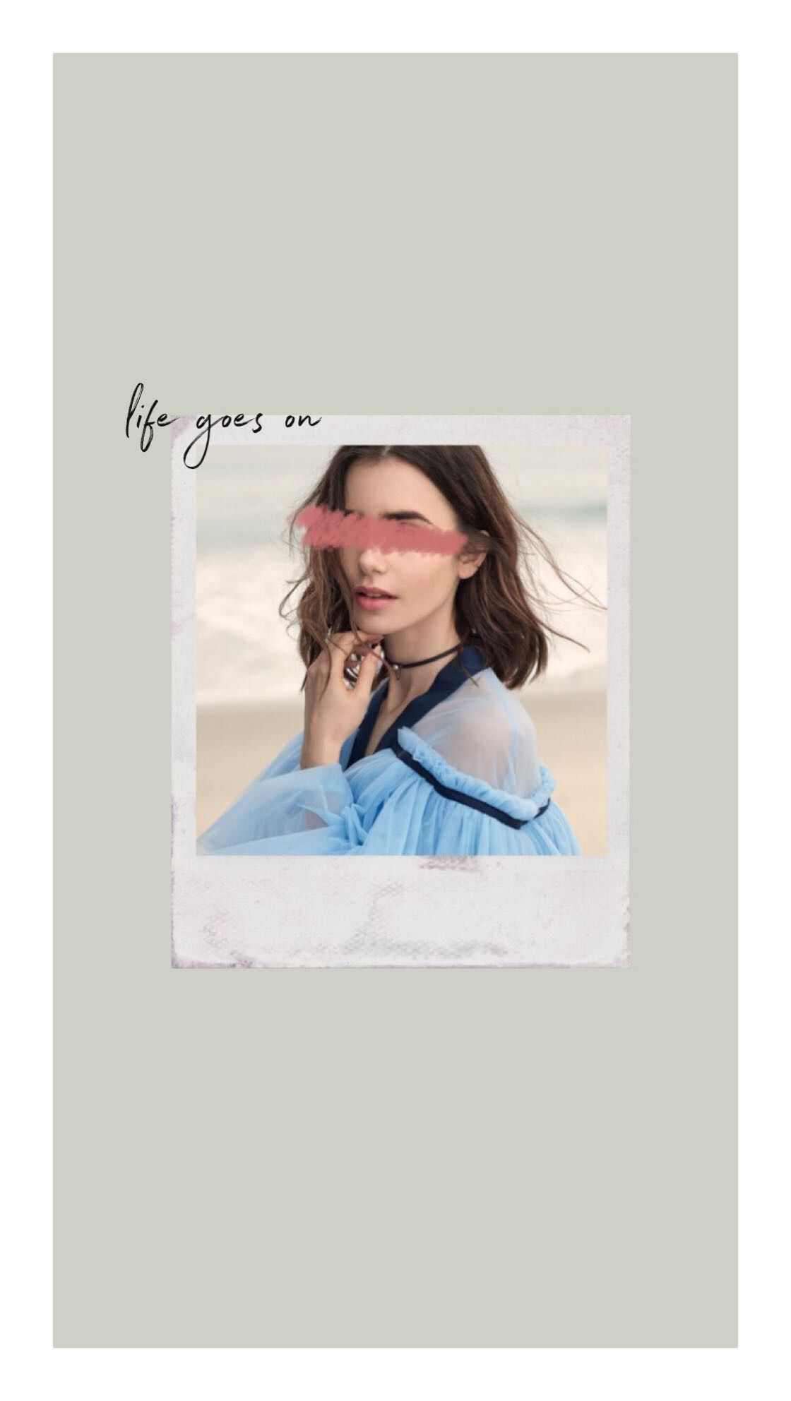 Lily Collins Wallpapers Tumblr Aesthetic Photomontage