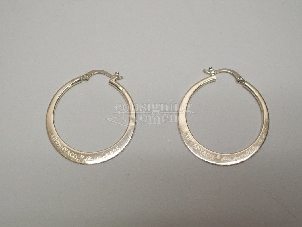 Tiffany Co 925 Elsa Peretti Signature Hoop Earrings Elsaperetti