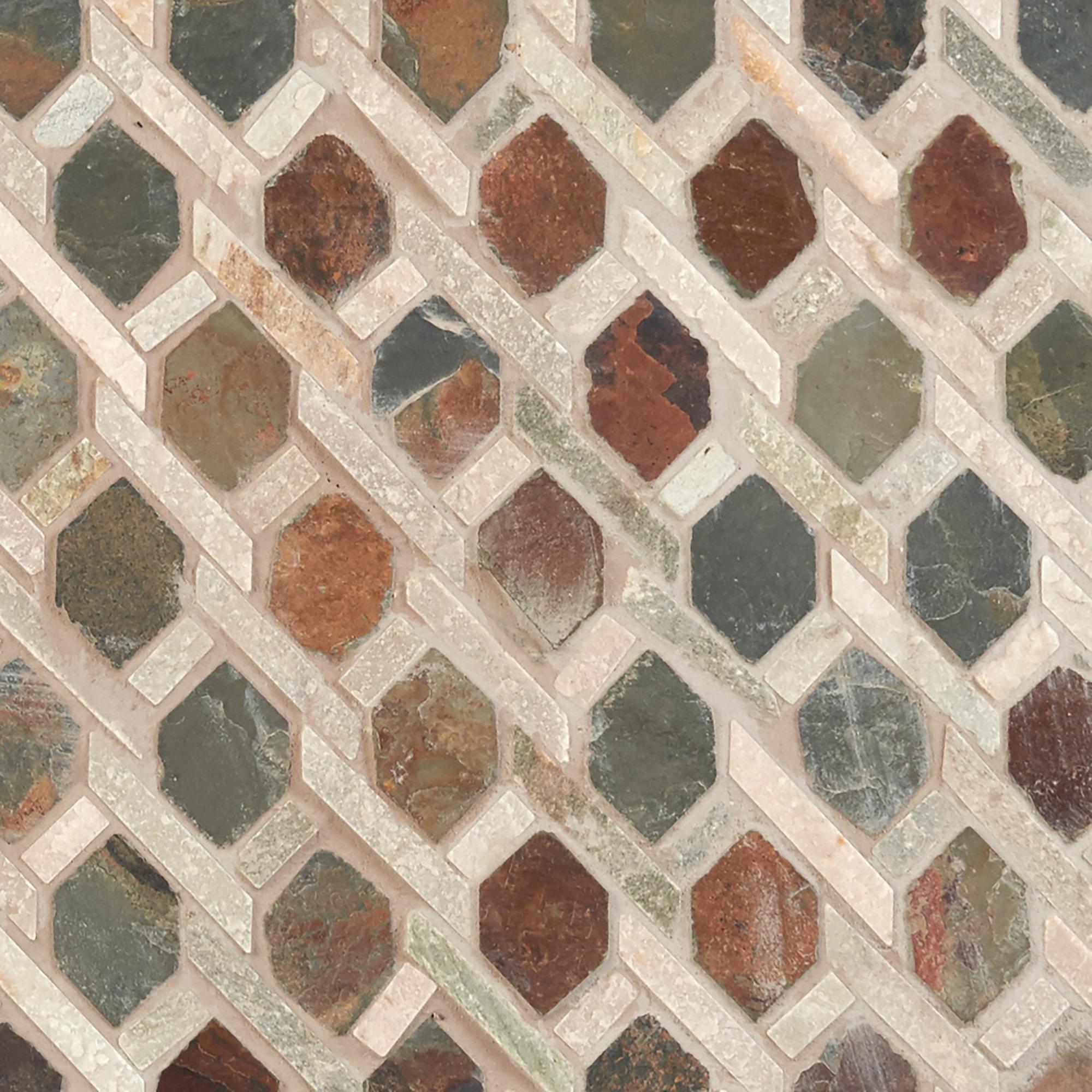 Decorative Slate Tiles Mixed Diamond Decorative Slate Mosaic  Slate Mosaics And Natural