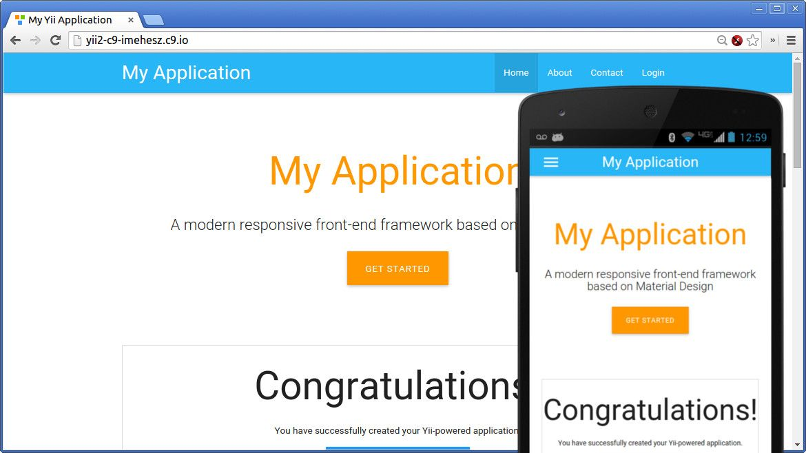 Yii2 Theme Factory - Material Default | Yii/Yii2 | Web design, Design