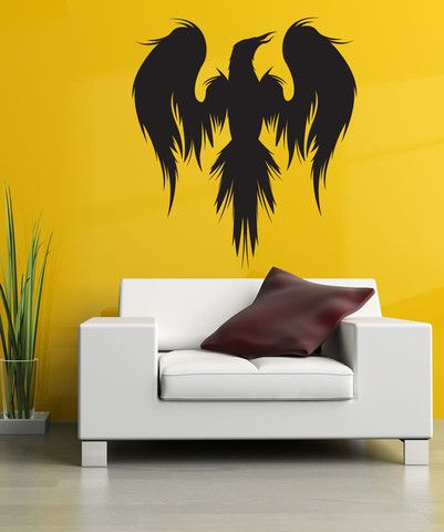 Vinyl Wall Decal Sticker Mythical Bird Silhouette #1312   Mythical ...