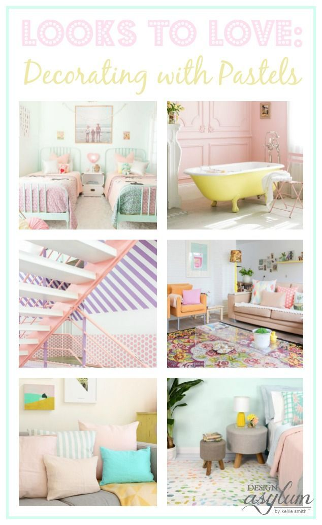 Looks To Love Decorating With Pastels Pastel Furniture Decor