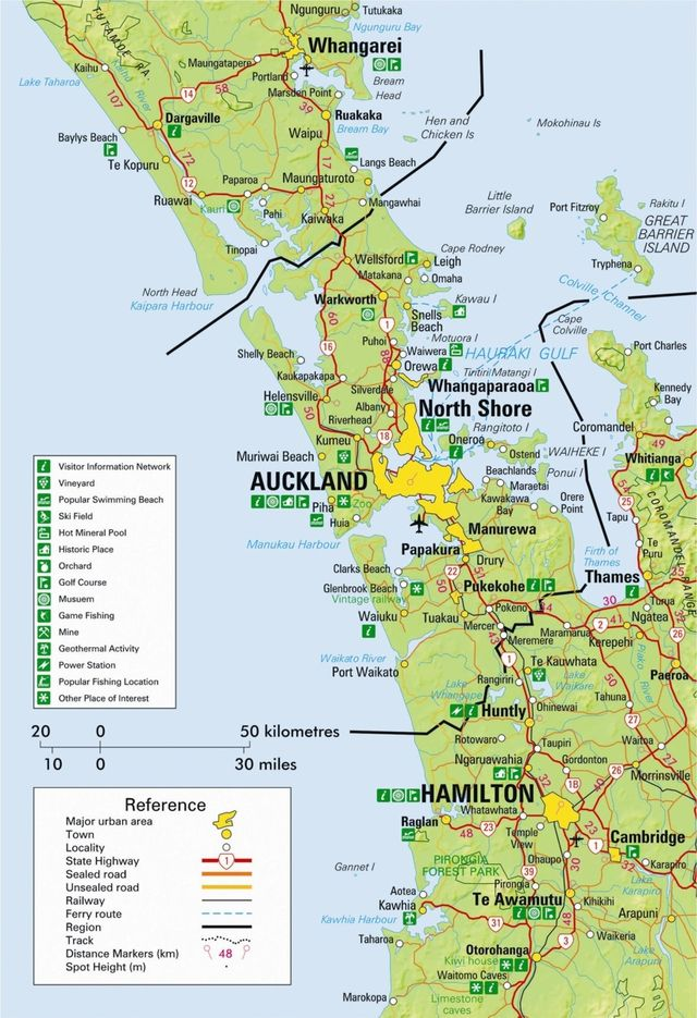New Zealand Auckland Map.New Zealand Maps Auckland Region Pitcures Auckland Map North