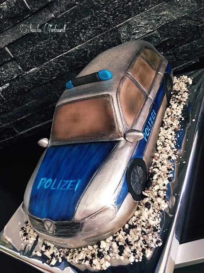 3d Polizeiauto Kindergeburtstags Torte Birthday Cakes Kids Sanelas