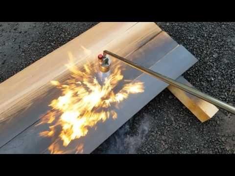 Shou Sugi Ban Adding Texture With Fire Youtube