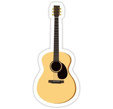 Acoustic Guitar Sticker Guitar Stickers Guitar Tumblr Stickers