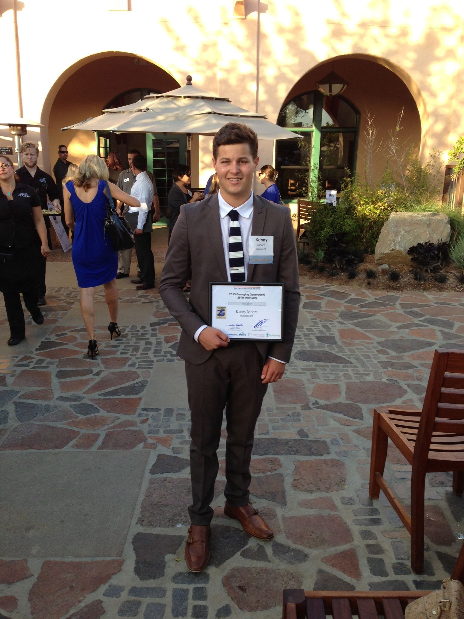 Congrats to our Account Coordinator, Kenny Moore who was named Finalist Runner Up for San Diego Business Journal's 2013 Emerging Generation: 25 in their 20's! Way to go!