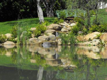 Ponds and waterfalls mediterranean landscape #DuckPond Bridge!