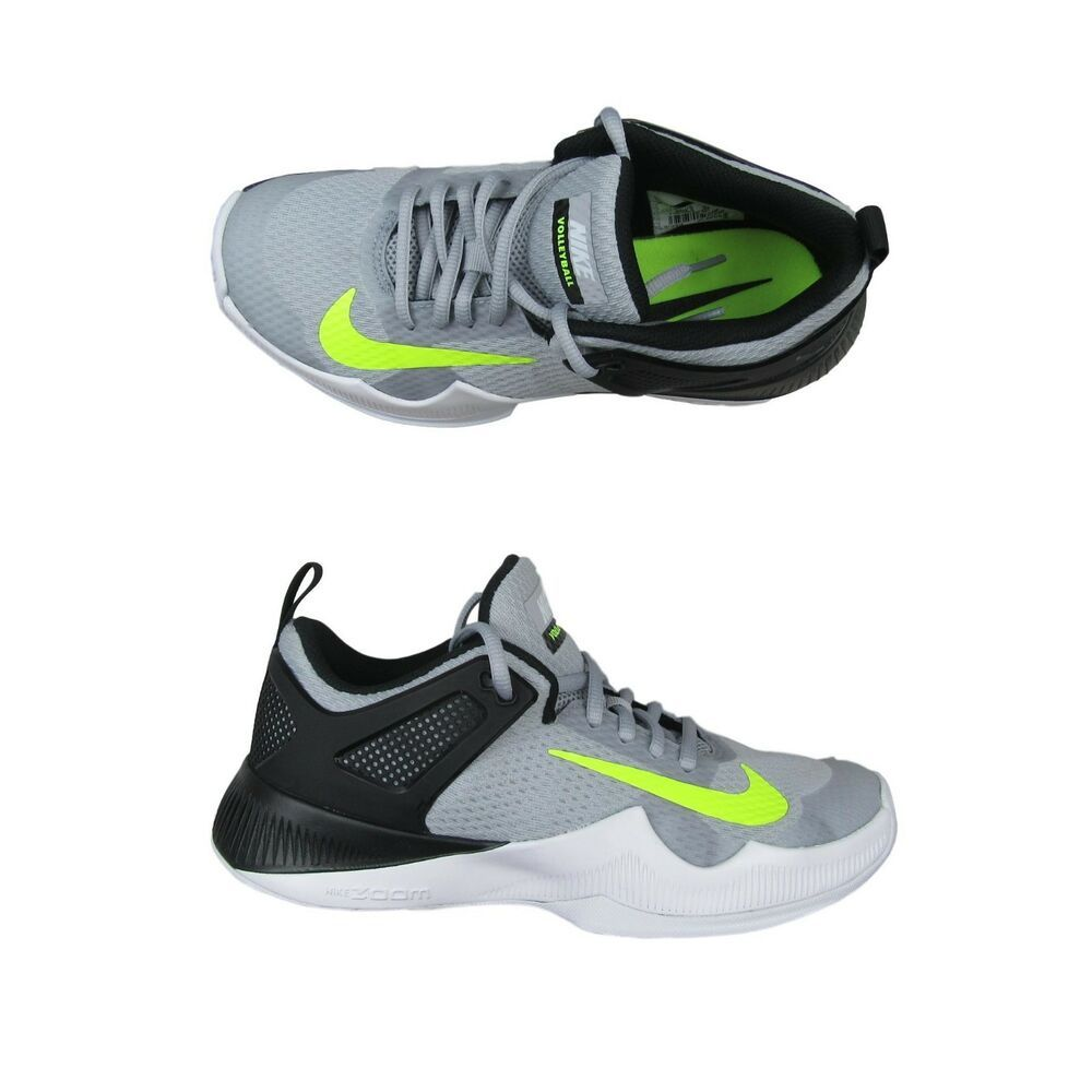 Nike Air Zoom Hyperace Womens Size 7 Volleyball Shoes Gray Volt 902367 007 New Nike Airs This Is A Li Volleyball Shoes Nike Shoes Mens Running Nike Air Zoom