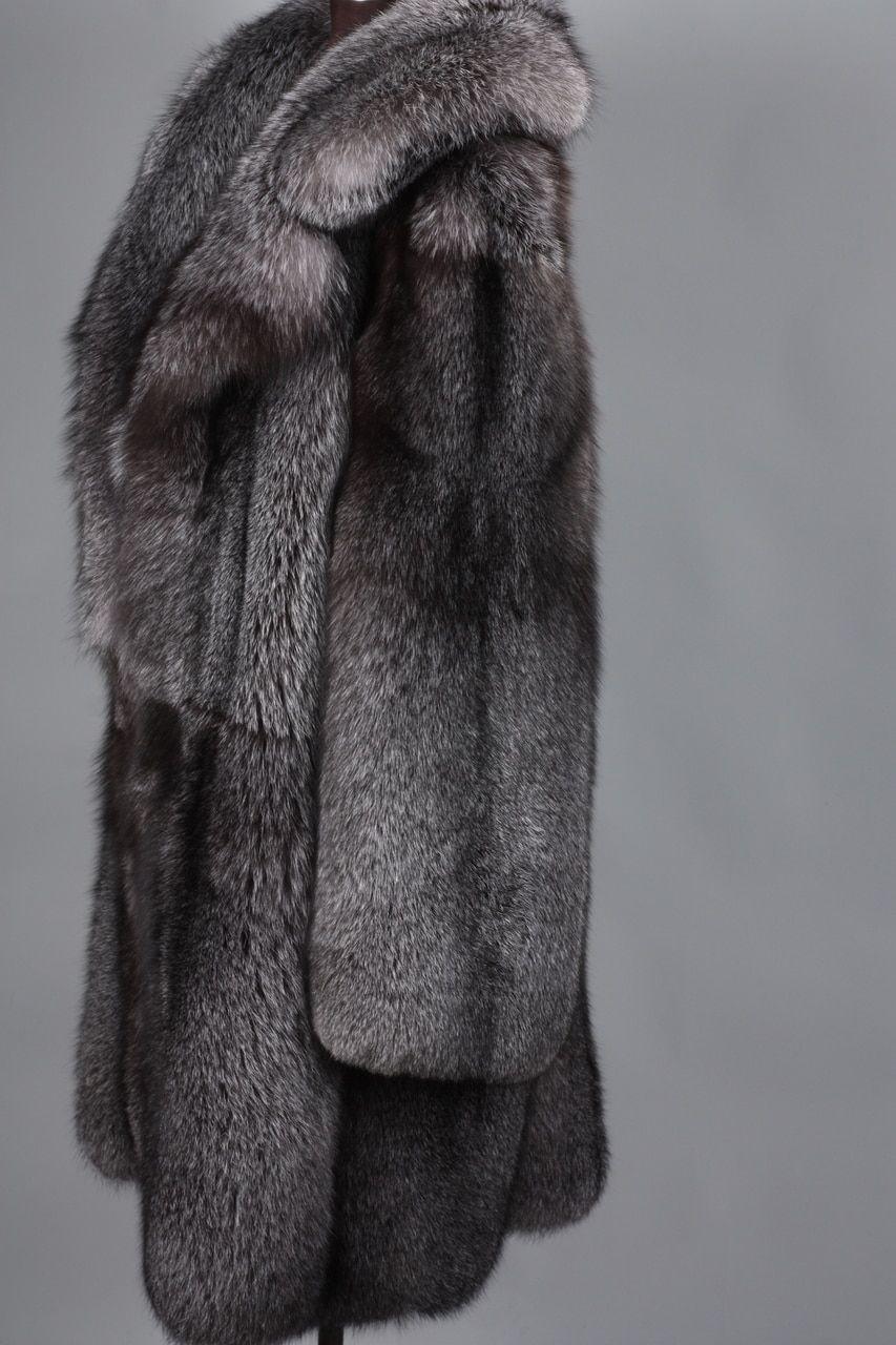 75b583420b4dc Blue Frost Fox Mens Fox Fur Coat in 2019   sexi