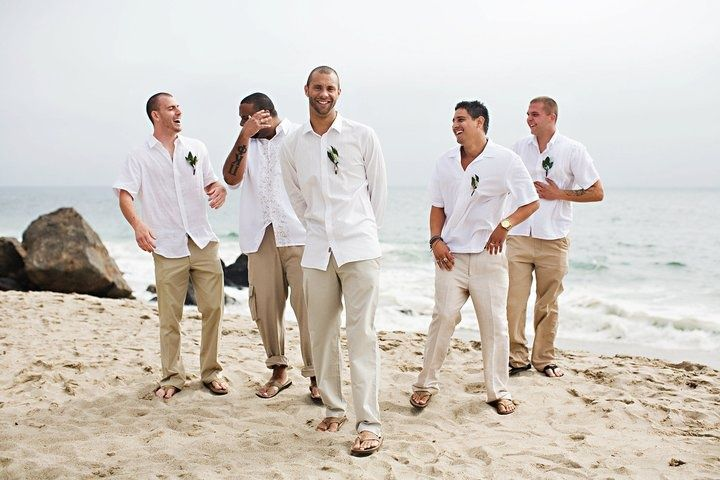 casual wedding attire for a groom | Beach Casual groom and ...