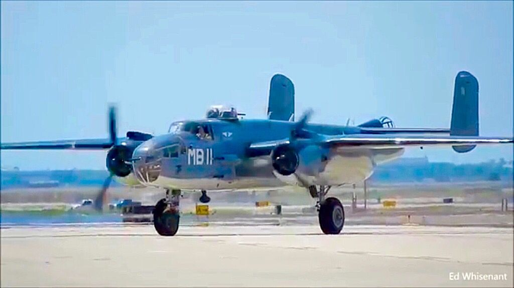 In WWII USN colors is this North American B-25J-NC Mitchell.  796794c32