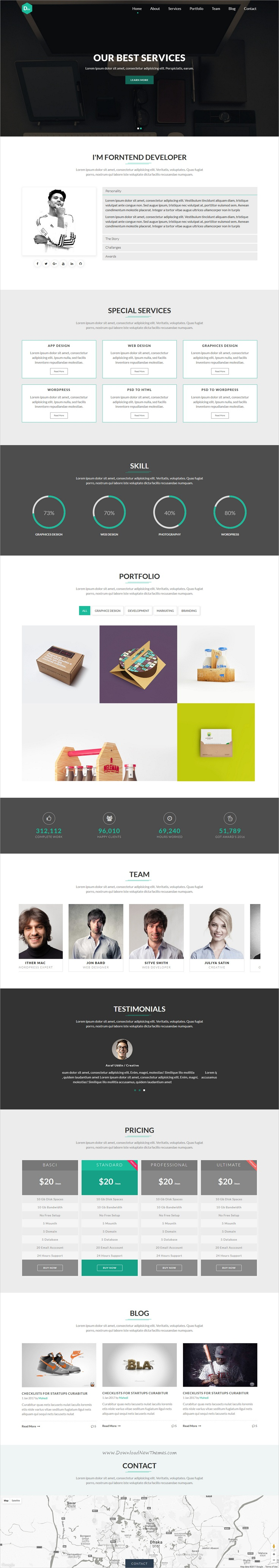 Dev is modern and unique design responsive #HTML #bootstrap template ...