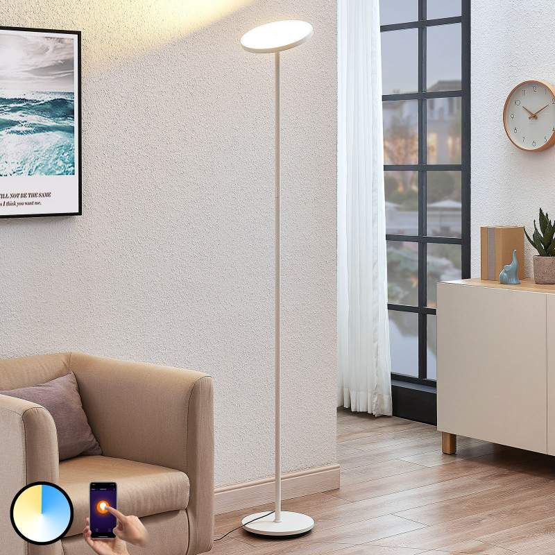 Arcchio Manon Led Stehlampe App Steuerbar Weiss Led Stehlampe
