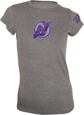 huge discount 9dbfd c4082 New Jersey Devils Women's Hockey Fights Cancer Triblend T ...