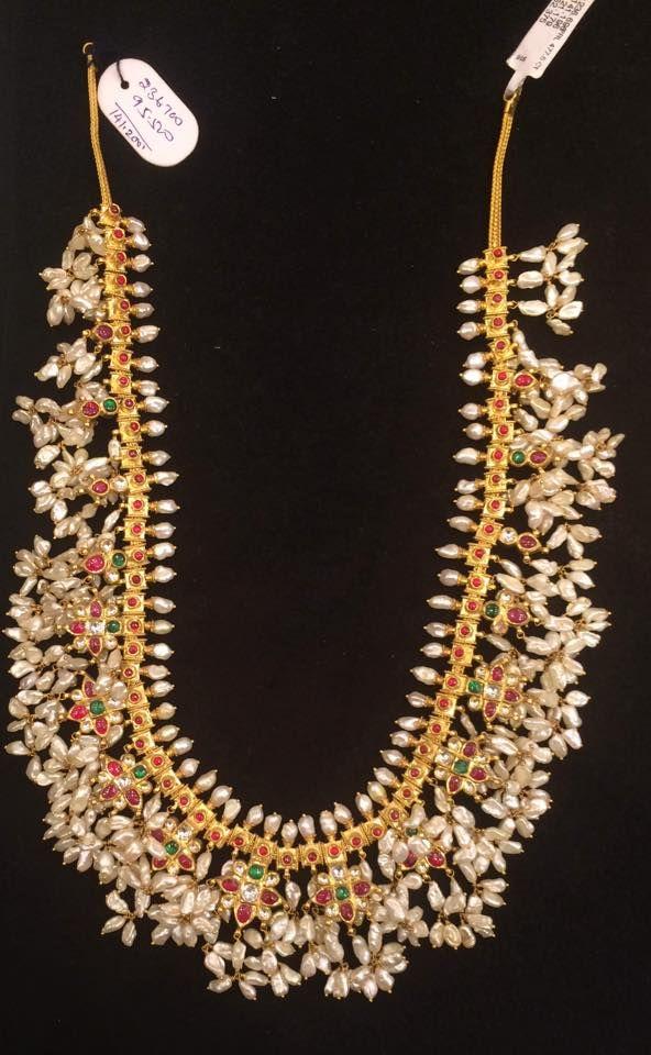 5065e7194a110 Pin by rashi rai on Guttapusalu necklace | Gutta pusalu, Jewelry ...