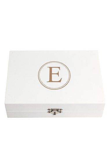 Cathy's Concepts Personalized Ring Bearer Pillow Box - White