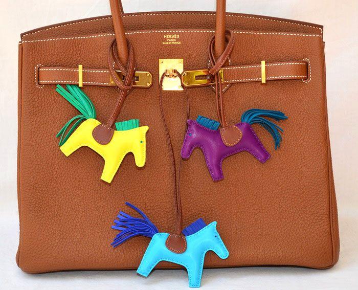 Hermès Hermes Rodeo Mm Horse Bag Charm Rare Anemone 9yT0KGIrov