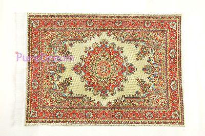 Rug  8L  miniature dollhouse woven fabric carpet  1pc 1//12 scale Turkish
