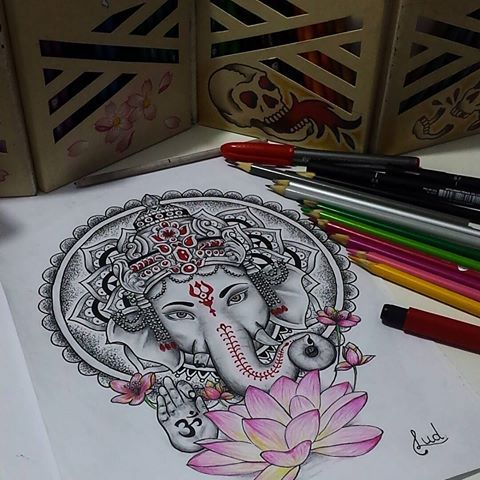 Ganesha Tattoo Ganesha Tattoo Elephant Tattoos Ganesh Tattoo