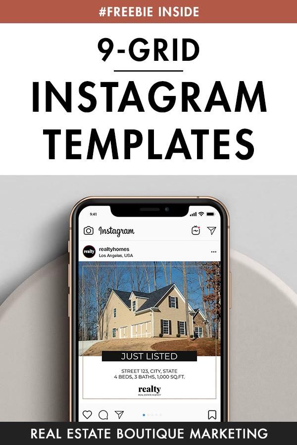 Real Estate Instagram Medium Template, Real Estate Marketing Template, Social Medium Kit